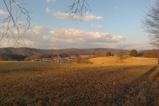Ausblick auf den Odenwald bei Weinheim