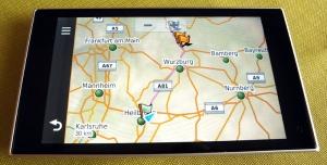 Fertige Route wird auf Karte angezeigt